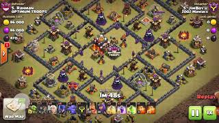 Clash of clans TH10 3 star gowibo healers
