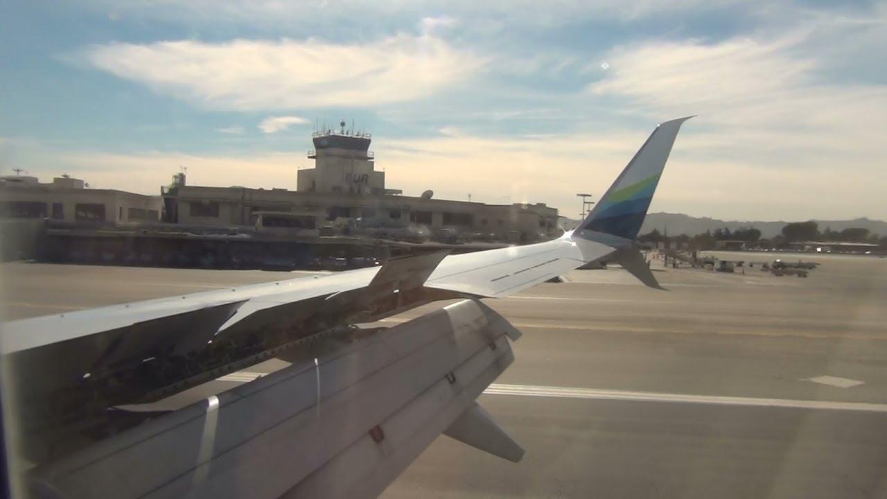 Alaska Airlines 737 800 N516as Landing Burbank Airport