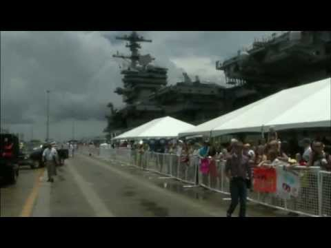 USS Dwight D. Eisenhower Carrier Strike Group Homecoming -- Part 1