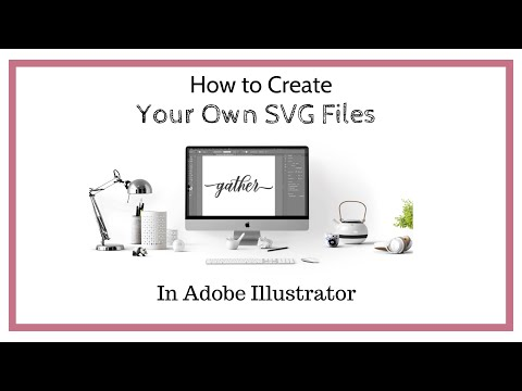 How To Make SVG Cut Files For Silhouette Cameo And Cricut In  Adobe Illustrator