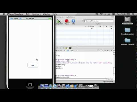 Switch Views with Animation Curl iPhone SDK