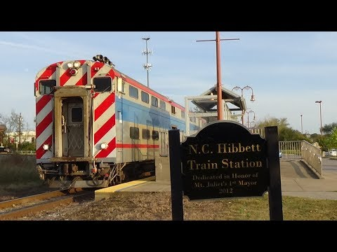 Music City Star Commuter Trains at Mt. Juliet Station - 10/31/2017