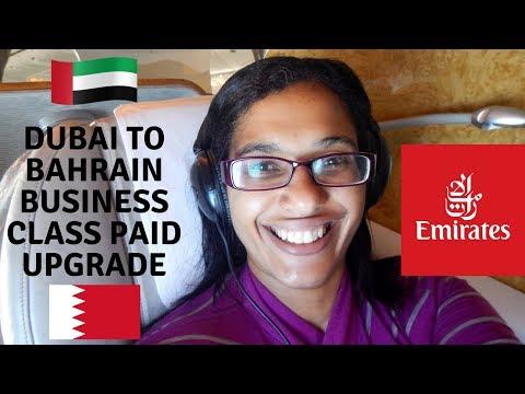 Dubai to Bahrain business class | EK837 flight review