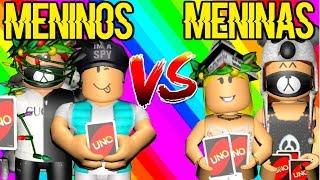 BOYS VS GIRLS IN THE UNO ROBLOX! Who's going to win?