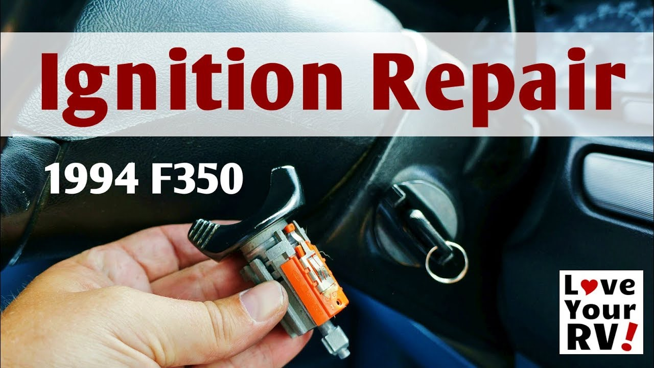 Replacing Faulty Ford F350 Truck Ignition Lock Cylinder Youtube 460 Wiring Diagram Camper