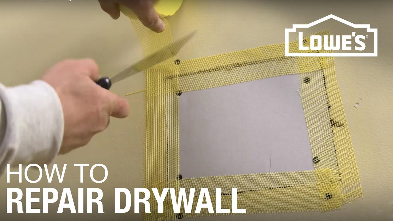 How to Repair Drywall  YouTube