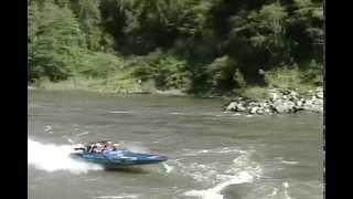 Crazy jet boat race crash boat sinks