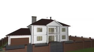 Проект классического двухэтажного дома «Аристократ» с гаражом  F-129-ТП