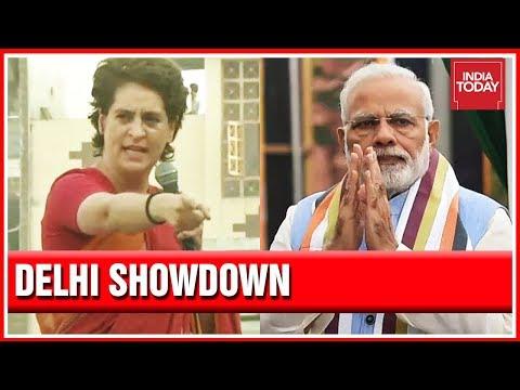 Delhi Showdown : Priyanka Gandhi Campaigns For Sheila Dikshit; PM Modi To Address Rally In Delhi