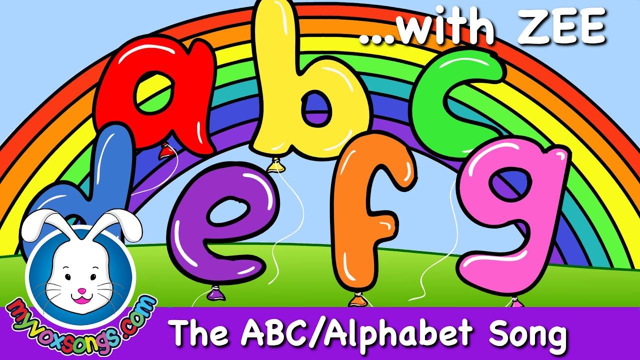 The Alphabet Song with lyrics   Nursery Rhymes - YouTube