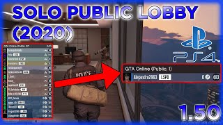 GTA Online - How To Be In A Solo Public Lobby!! *PS4 ONLY* (1.50)