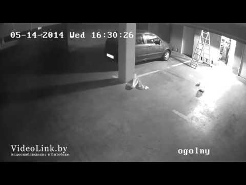 Пример записи  IP камеры видеонаблюдения HIKVISION DS 2CD2112 I подземная парковка