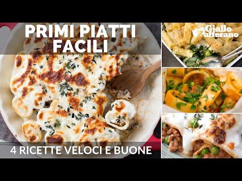 Primi piatti 4 ricette facili youtube for Ricette primi piatti veloci bimby