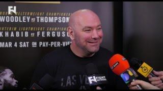 UFC 209: Dana White Media Scrum