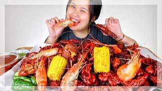 GIANT 10 POUND CRAWFISH SEAFOOD BOIL MUKBANG! 먹방 | EATING SHOW
