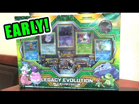 Opening NEW LEGACY EVOLUTION PIN COLLECTION POKEMON CARDS BOX! - EARLY RELEASE!!!
