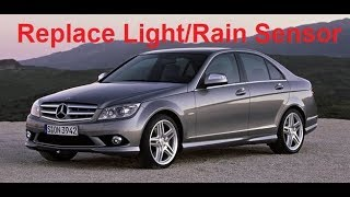 W204 Mercedes C Class Replace Light/Rain Sensor Auto Lights Inoperative