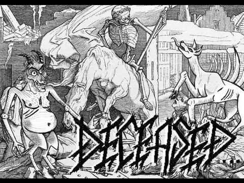 Deceased - The 13 Frightened souls - LYRICS trippy animation disturbing creepy death metal video