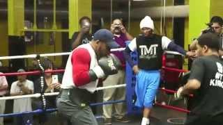James Kirkland media workout for Canelo Alvarez fight