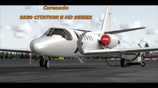 FSX 2015 HD  - S550 CITATION II TAKE-OFF FROM Oslo-Gardermoen