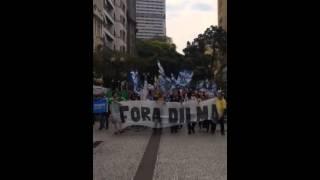 """População de Curitiba vai às ruas para pedir """"Fora PT"""""""