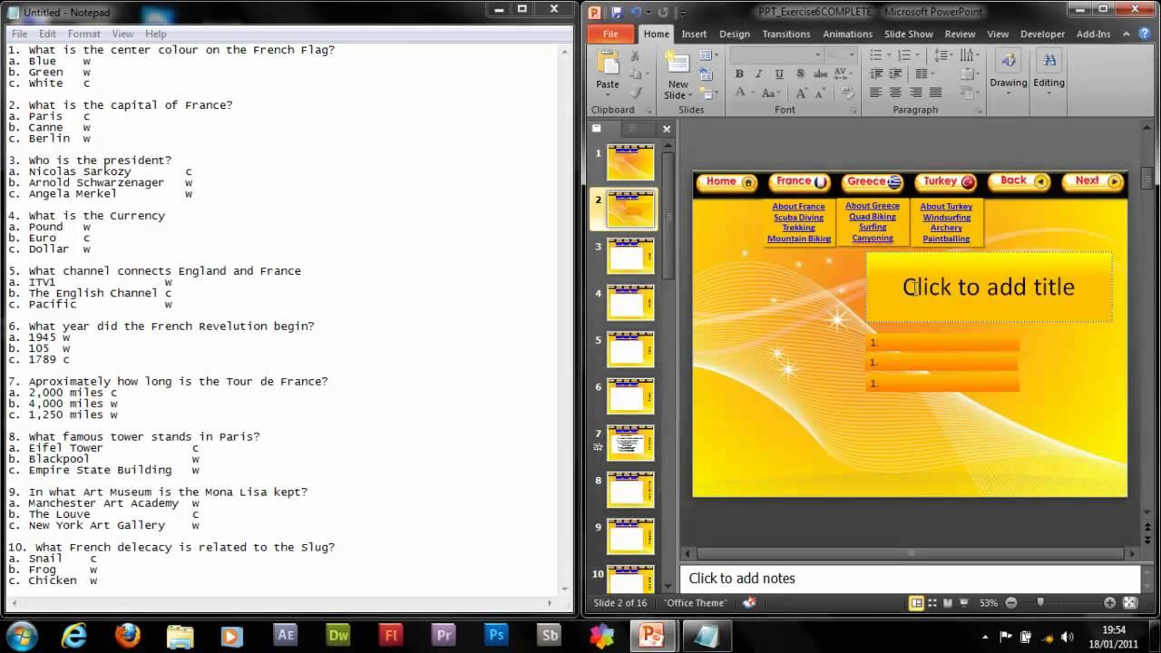Powerpoint how to make an advanced interactive quiz 12 youtube toneelgroepblik Gallery