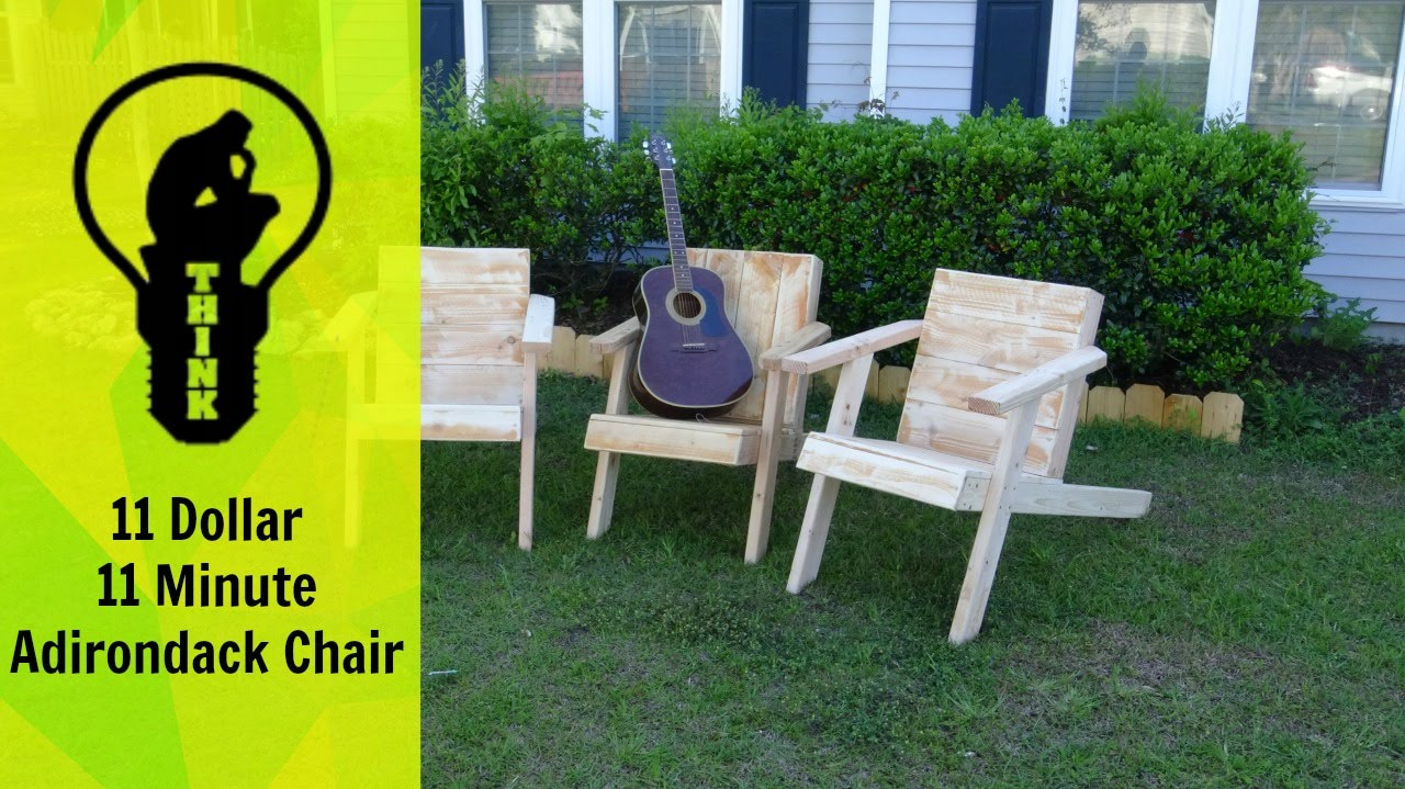 11 Minute Adirondack Chair Build