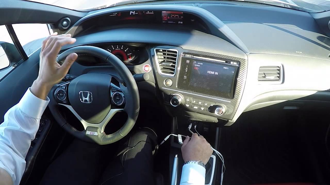 2015 Honda Civic Si Sedan Test Drive White Youtube