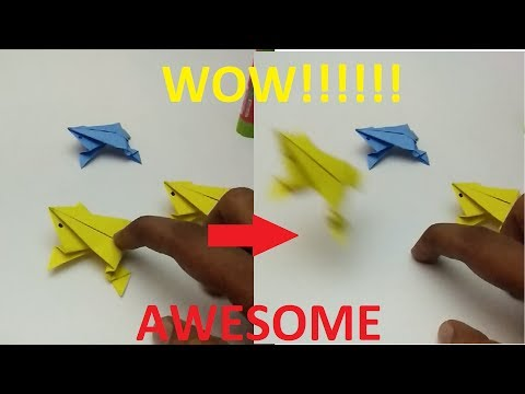 AWESOME ORIGAMI FIDGET JUMPING FROG