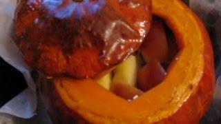 Тыква с яблоками и мёдом запеченная в духовке/Pumpkin baked
