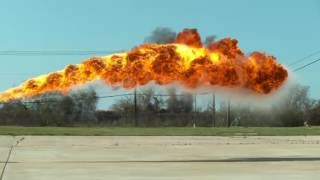 50 ft Flamethrower in 4K Slow Motion   The Slow Mo Guys