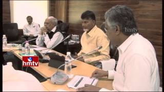 AP CM Chandrababu Naidu Review meeting on State Revenue Department | HMTV