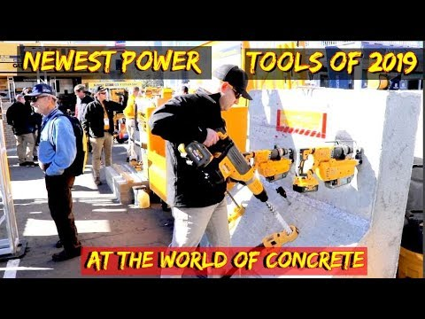 Newest Power tools of 2019 at World of Concrete -sponsored by Volvo heavy equipment