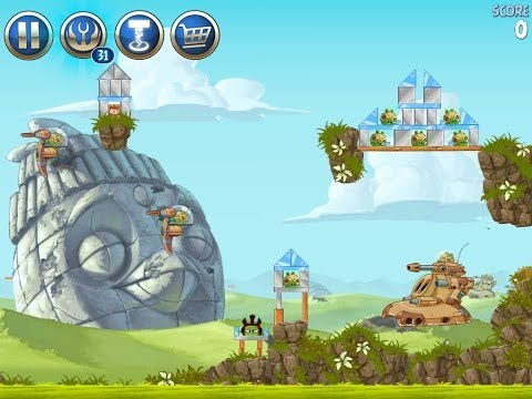 Angry Birds Star Wars 2 Level B3-19 Battle of Naboo 3-Star Walkthrough