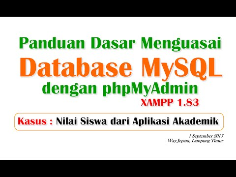 Panduan Dasar Database MySQL dengan phpMyAdmin