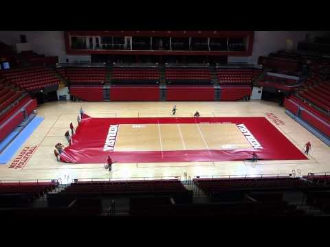 Nebraska's Volleyball Court Rotates!