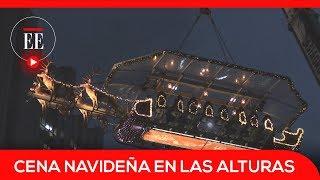 Así se cena en el trineo de Santa Claus a 45 metros de altura | El Espectador