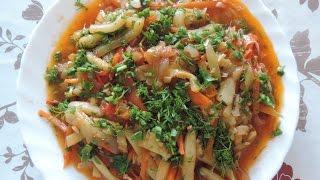 Овощной салат с цукини./Vegetable salad with zucchini.