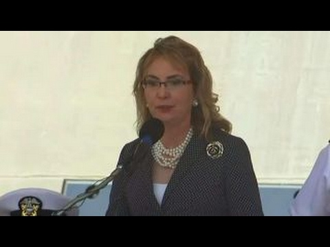 Gabrielle Giffords speaks at commissioning of ship