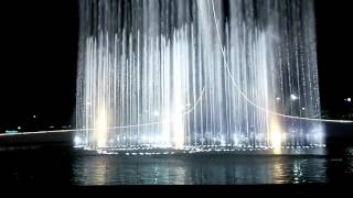 Шоу фонтанов в Олимпийском парке Сочи