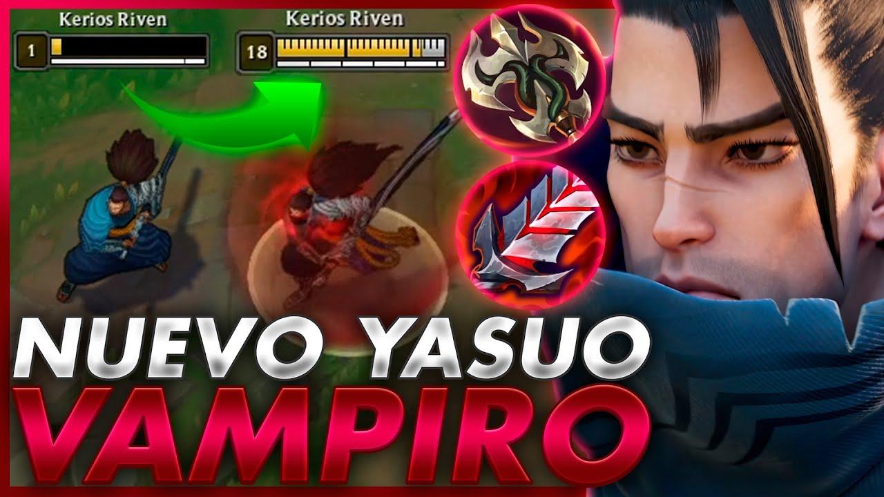 💀¡EL NUEVO YASUO VAMPIRO con ROBO de VIDA INFINITO les HACE VOMITAR! *TE ODIARAN 100% SI HACES ESTO*