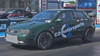 C2 Motorsports 1.8T 20v Audi S3 at Santa Pod Raceway