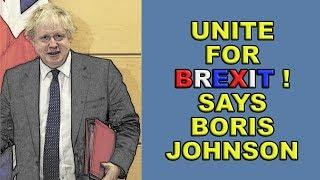 Unite Around Brexit Says Boris Johnson