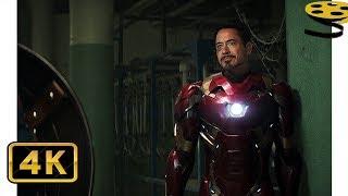 Тони Старк встречается со Стивом и Баки | Первый мститель: Противостояние | 4K ULTRA HD