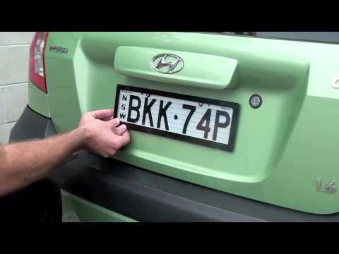 How to install Altrex Number Plate Protectors - YouTube