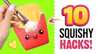 10 SQUISHY HACKS! Tipps und Tricks rund um Squishies! Wie macht man Squishies? Deutsch