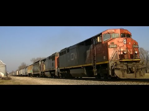 Trains of the Midwest with CN and railroad radio!