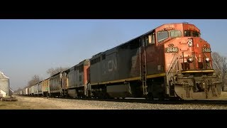 trains of the midwest with cn and railroad radio