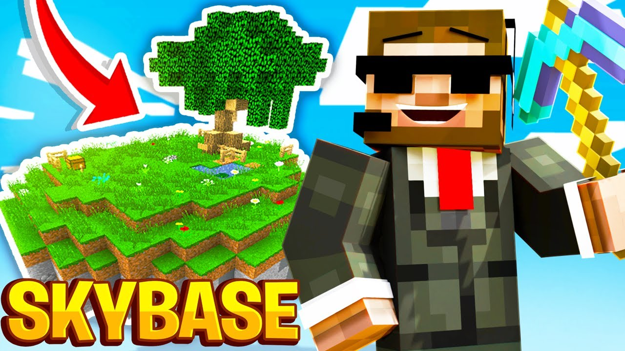 I BUILT A SKYBASE IN MINECRAFT! (Fortcraft: Episode #3)