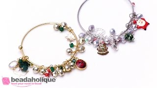 Quick and Easy Gift Idea: Personalized Charm Bracelet Using Adjustable Bangle